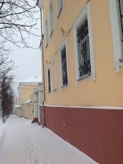 улица, снегопад