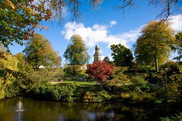 large ornate public gardens, UK