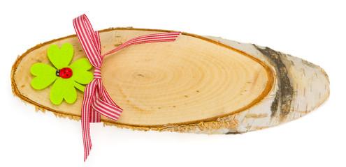 Holzschild mit Schleife
