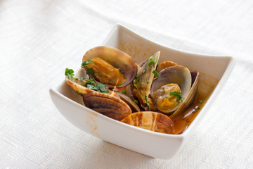 Seafood entrees with clams