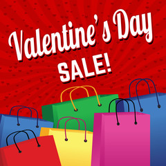 Valentine`s day sale poster