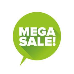 Mega sale label vector