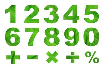 one to zero numbers and basic mathematical symbols