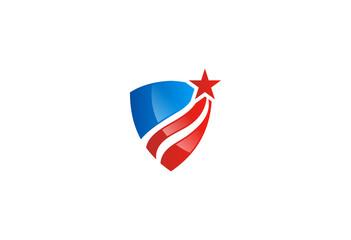 shield abstract protection vector logo