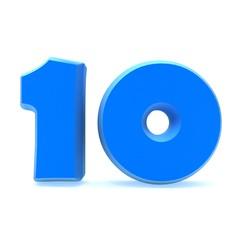 Number ten 3d illustration