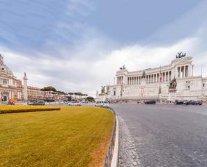Rome, Italy. Equestrian monument to Victor Emmanuel II near Vitt