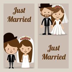 Wedding design, vector illustration.
