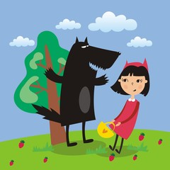 children fairy tale Little Red Riding Hood