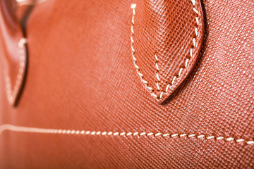 Brown Stitched Leather