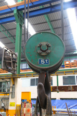old hoist and green color