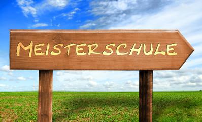 Strassenschild 30 - Meisterschule