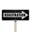 Registration One Way Road Street Sign Advertise Event Enrollment