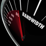 Bandwidth Speedometer Limited Resources Traffic Communication poster