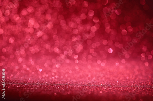 Red bokeh abstract background poster