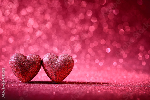 canvas print picture Valentine Hearts