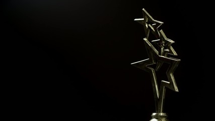 Sports Cup in the form of stars.