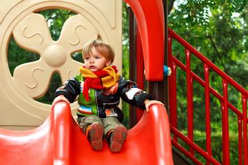 Boy on child's yard