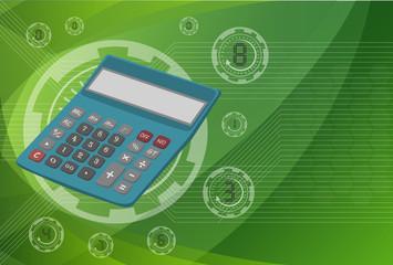 Calculator on background technologies, vector eps10 illustration