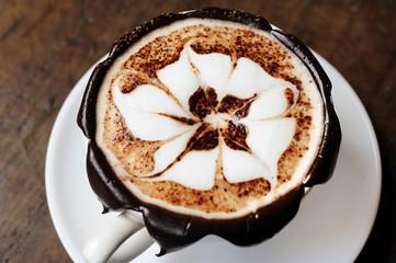 Latte art / coffee art made by barista