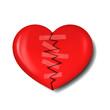 illustration of broken heart with plaster