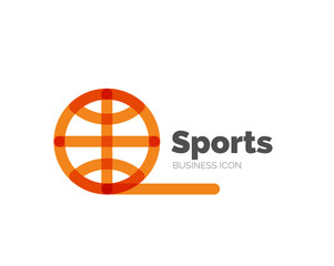 Line minimal design logo ball sports