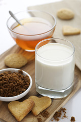 milk, honey and cookies