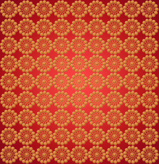 wallpapers with round golden patterns