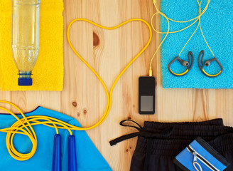 Clothing and sports accessories for fitness