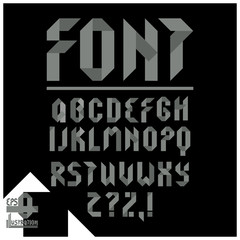 Font,ABC, pieces of tape..