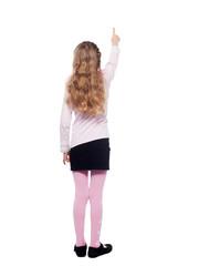 Girl standing back