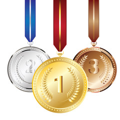 Golden, Silver and Bronze Medal