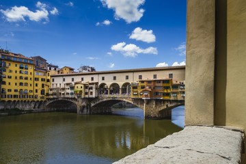 View of Ponte Vecchio and River Arno