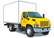 Vector isolated yellow commercial  truck