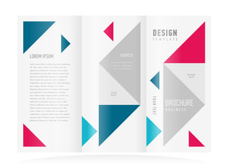 brochure design template triangles figure