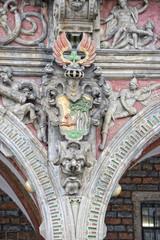 bremen city hall bas relief family shield
