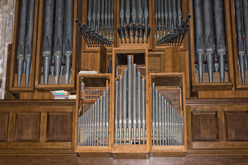 antique old german church organ