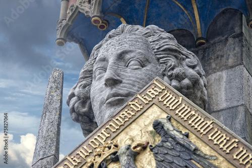 Leinwanddruck Bild roland bremen statue