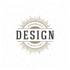 Retro Vintage Logotype Vector design template