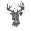 Vintage illustration with wilderness quote on deer head