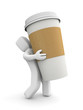 Person carries a cup of coffee