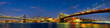 Manhattan and Brooklyn Bridges panorama, New York