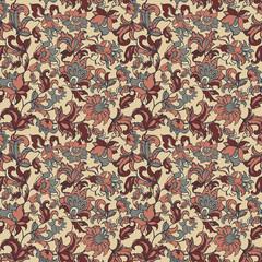 floral seamless textile pattern