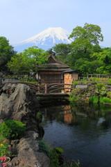 富士と忍野八海