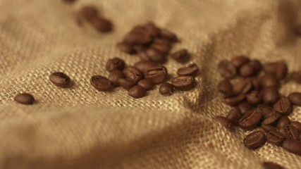 Roasted Coffee Beans. Dof Background.