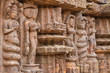 Ancient carvings of dancers in Konark