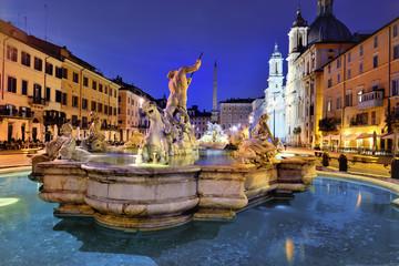 Piazza Navona, Neptune Fountain, Rome