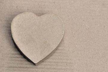 cœur en carton recyclé