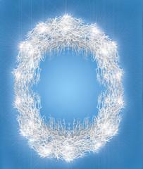 Festive winter frame