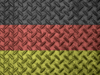 Germany flag on grunge wall