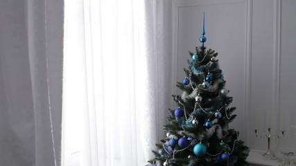 Christmas Ball on Christmas Tree. Decoration.